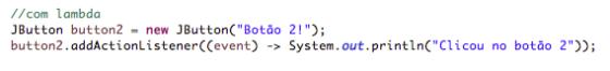 ActionListener usando lambda